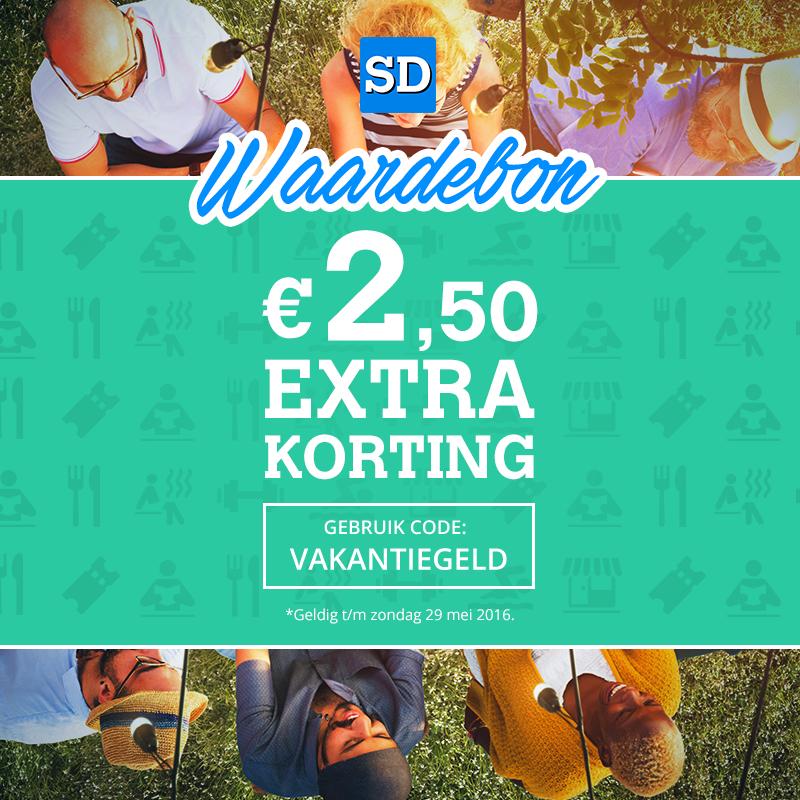 €2,50 korting bij Social Deal