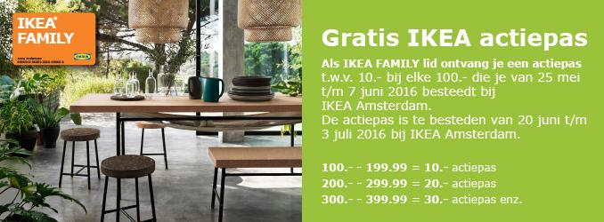 Gratis actiepas t.w.v. €10 bij elke €100 besteding @ IKEA Amsterdam