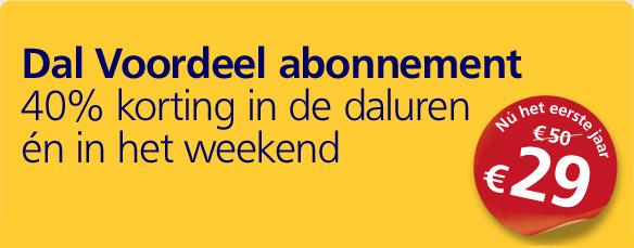Eerste jaar Dal Voordeel abonnement voor € 29 @ NS