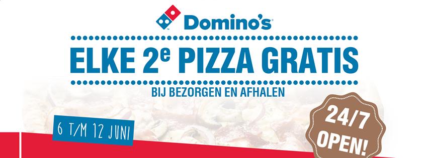 24u open & elke 2e pizza gratis Domino's Leeuwarden actieweek