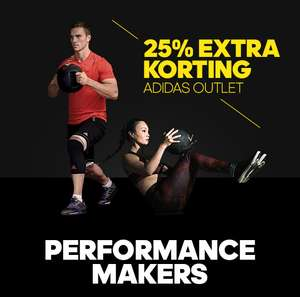 Vandaag 25% extra korting op Performance + Voetbal outlet @ Adidas