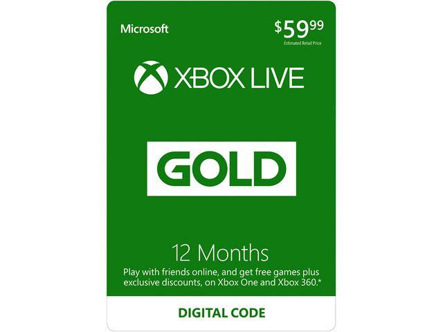 Xbox Live Gold 12 maanden (digitale code) voor €29,07 @ Newegg
