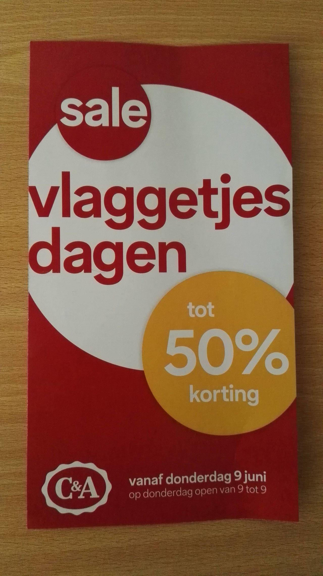 Vlaggetjesdagen met kortingen tot 50% korting (+ 10% of €5 extra) @ C&A