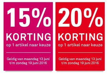 Keuzekorting - 15% // 20% - @ Karwei