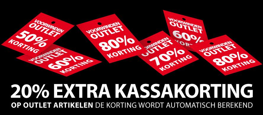 20% extra kassakorting op sale @ Voorwinden