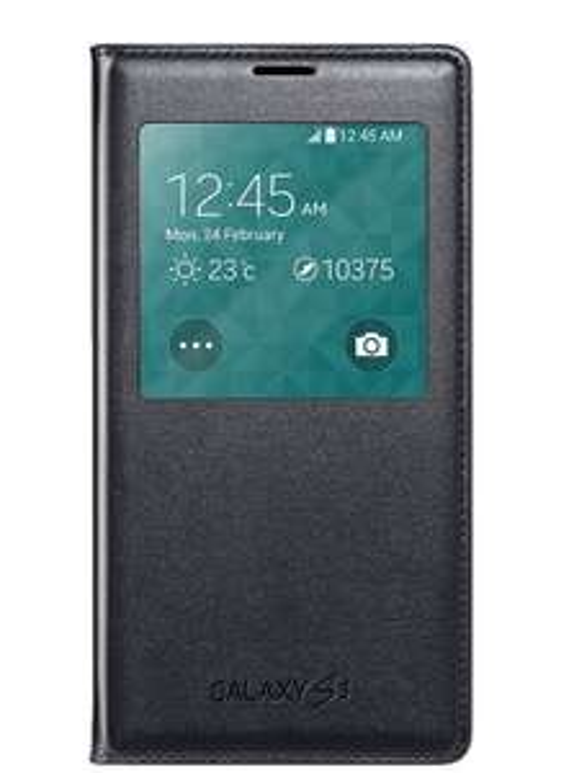 Originele Samsung S-View Cover Galaxy S5 Black van €29,99 voor €1,00 (€2,50 verzendkosten)