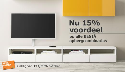 15% korting op BESTÅ opbergcombinaties @ IKEA