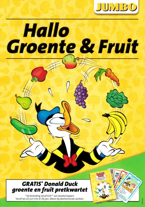 Gratis Donald Duck groente & fruit pretkwartet (bij aankoop) @ Jumbo