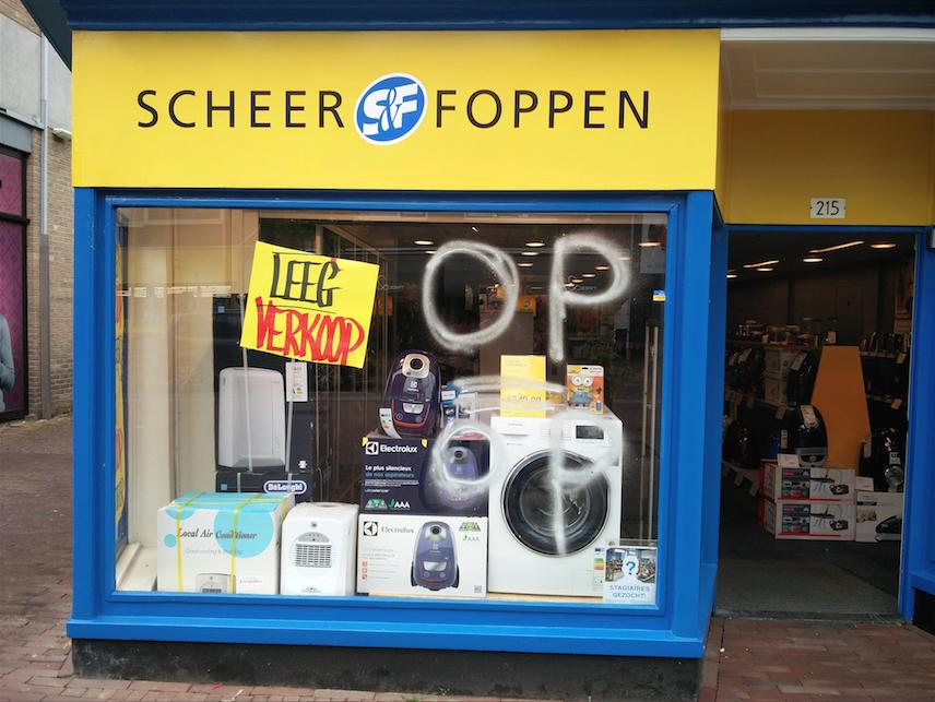 [UPDATE] Scheer & Foppen houdt leegverkoop, wegens faillissement.