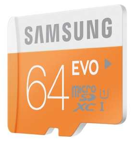 Samsung MicroSDXC EVO 64GB, UHS-I/Class 10 (MB-MP64D/EU) voor €25,50 @ Amazon.fr