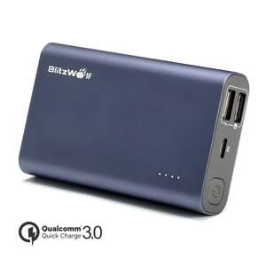 BlitzWolf® BW-P3 10000mAh 18W QC3.0 Quick Charge Dual USB Port Power Bank @Banggood