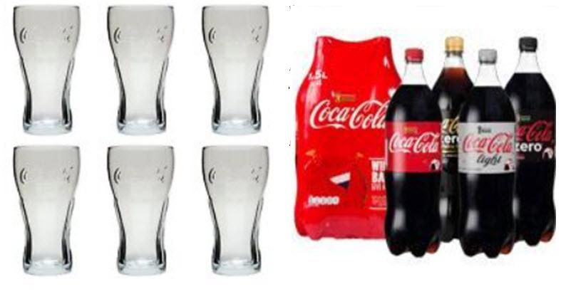 Gratis Coca-Cola glas bij aankoop van 4 Coca-Cola 1,5 ltr flessen @ AH