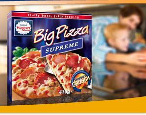 Wagner Big Pizza's voor €1 @ Vomar (€1,20 bij Emté)