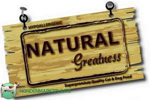 Gratis sample Natural Greatness hondenvoer