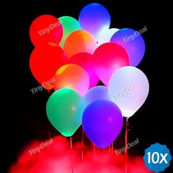 10 pcs LED Balloons €2,51 @TinyDeal.com