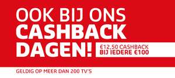 Plattetv.nl elke 100 euro, €12,50 cashback