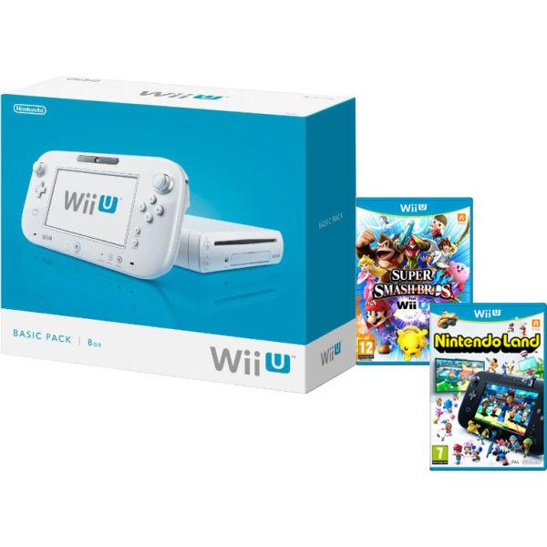 Nintendo Wii U Console met de games Super Smash Bros en Nintendo Land voor €230,39 @ Zavvi.nl