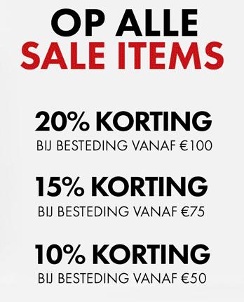 10-20% EXTRA korting op de sale @ We Fashion