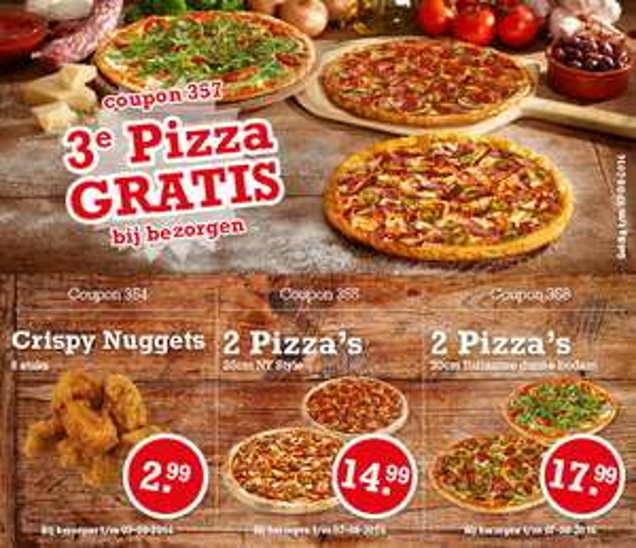 Diverse Pizza kortingscodes bij New York Pizza