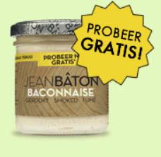 Probeer Jean Bâton Baconnaise gratis (geld terug) @ Qnippos