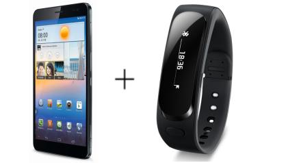 Huawei Mediapad X1 Tablet + Gratis Huawei TalkBand B1 door code voor €354,87 @ Amazon.de