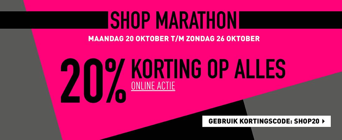 Sasha Shop Marathon 20 % korting op alles