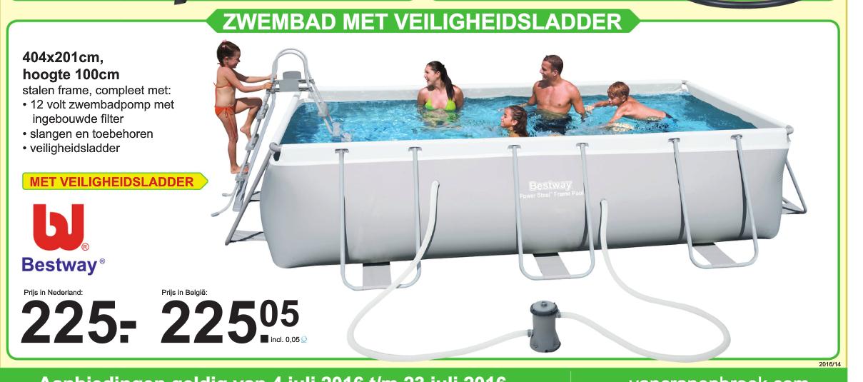 """Bestway Frame Pool """"Power Steel zwembad voor €225 @ Van Cranenbroek"""