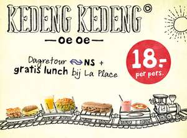 NS dagretour + lunch bij La Place €18 p.p. @ Spoordeelwinkel