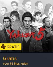 [FOUT?] Yakuza 5 (PS3) gratis voor PS Plus leden