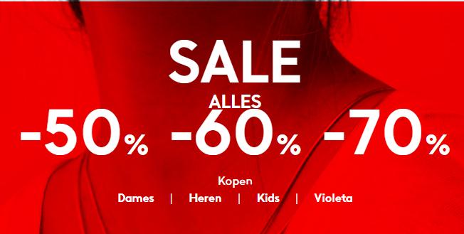 ALLE sale 50-60-70% korting @ Mango
