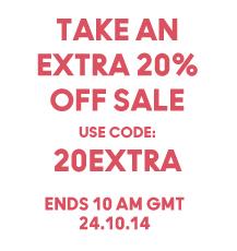 Kortingscode voor 20% extra korting op artikelen in de sale @ Urban Outfitters