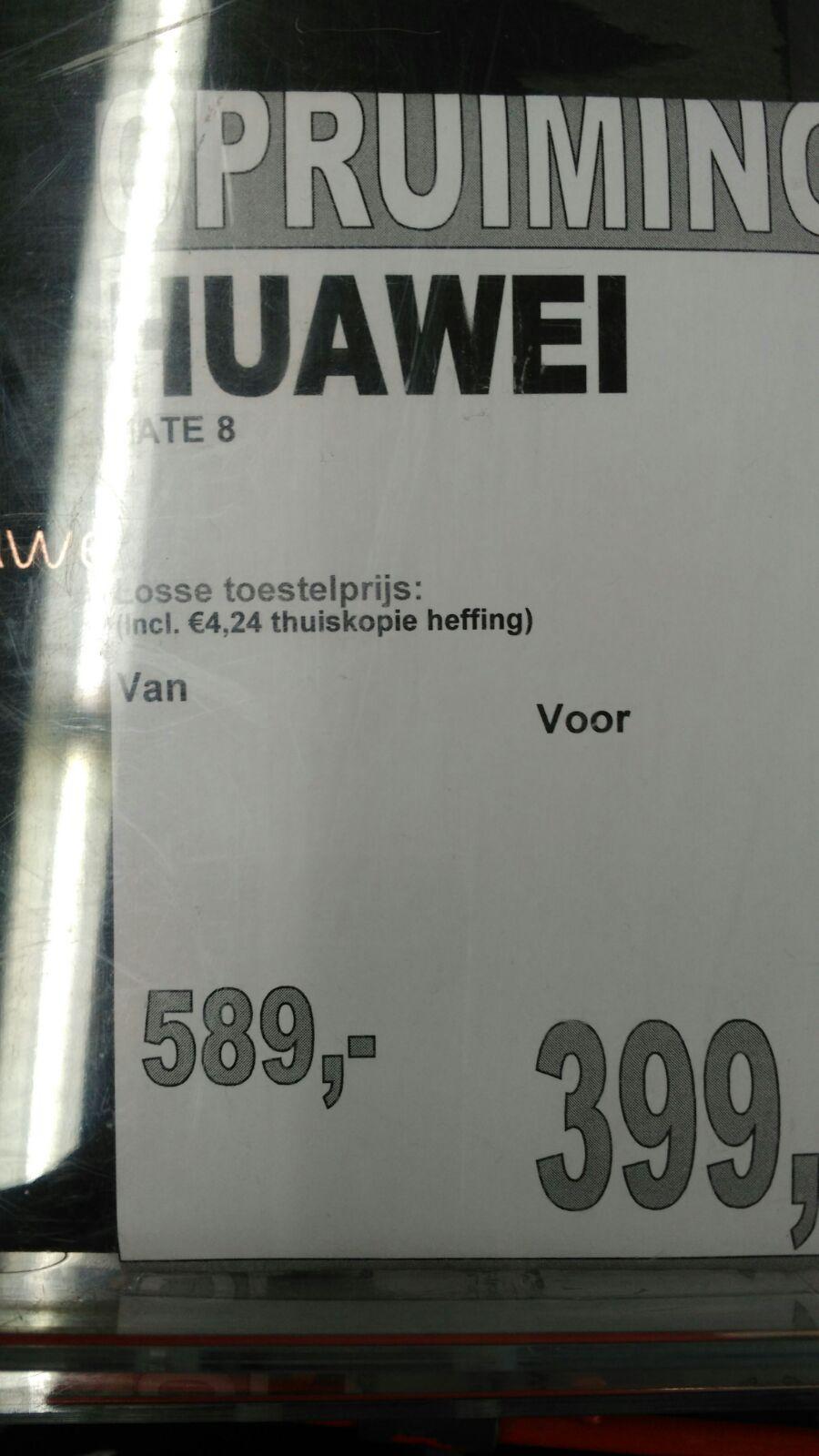 Huawei Mate 8 van €589 voor €399! @ MM Leeuwarden