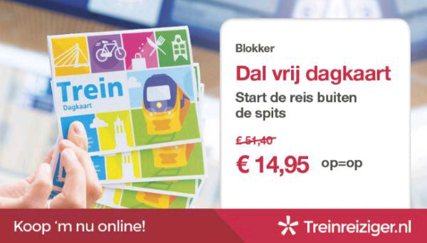 Blokker treinkaartjes Dal vrij dagkaart voor €14,95