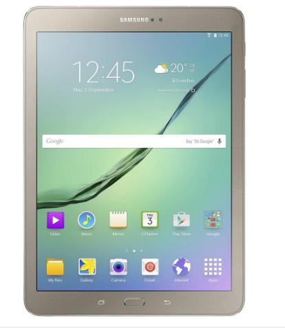 "Samsung Galaxy Tab S2 VE 9,7"" WiFi 32GB (2016) Goud/Wit/Zwart @ BCC / Mediamarkt"