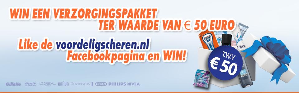 10% korting op gehele assortiment @ voordeligscheren en voordeligwassen.nl