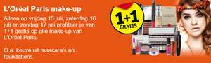Dit weekend 1+1 GRATIS op L'Oréal make-up @ Kruidvat
