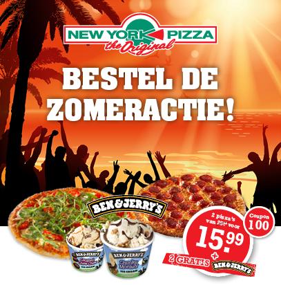 Gratis 2 Ben & Jerry's ijsjes bij aankoop @ New York Pizza