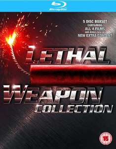 Lethal Weapon 1-4 op Blu-ray voor € 12,49 @ Zavvi