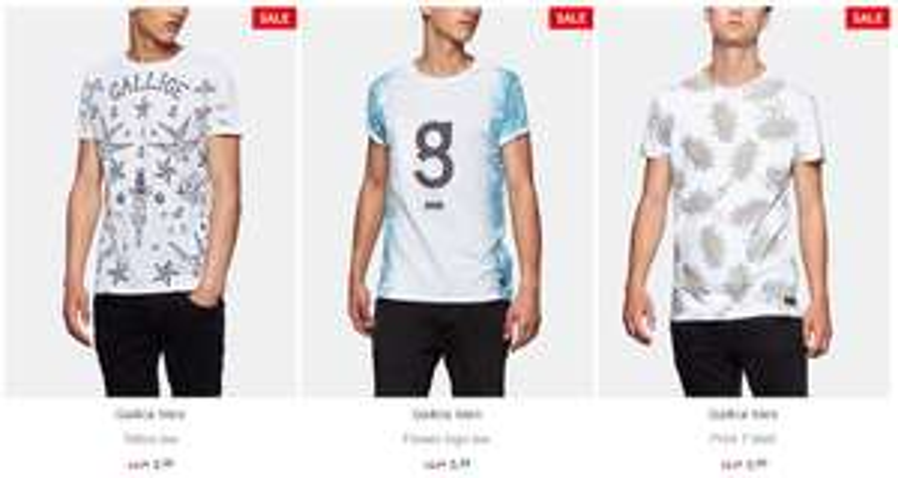 Verschillende heren t-shirts €5 @ The Sting