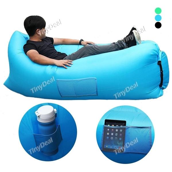 Nieuw versie Zelf Opblaasbare Strand Camping Sofa Bed met zak (EU magazijn) @TinyDeal.com €27,34