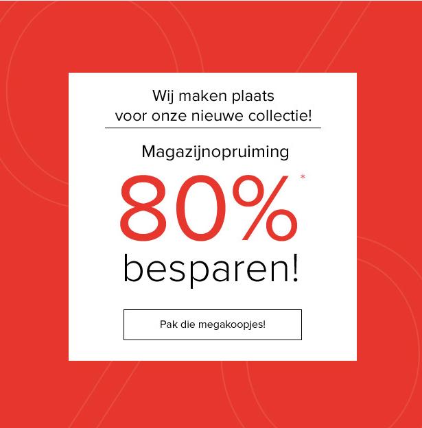80% korting op dames & heren - kleding / schoenen / accessoires + met code 10% extra @ Dress for Less