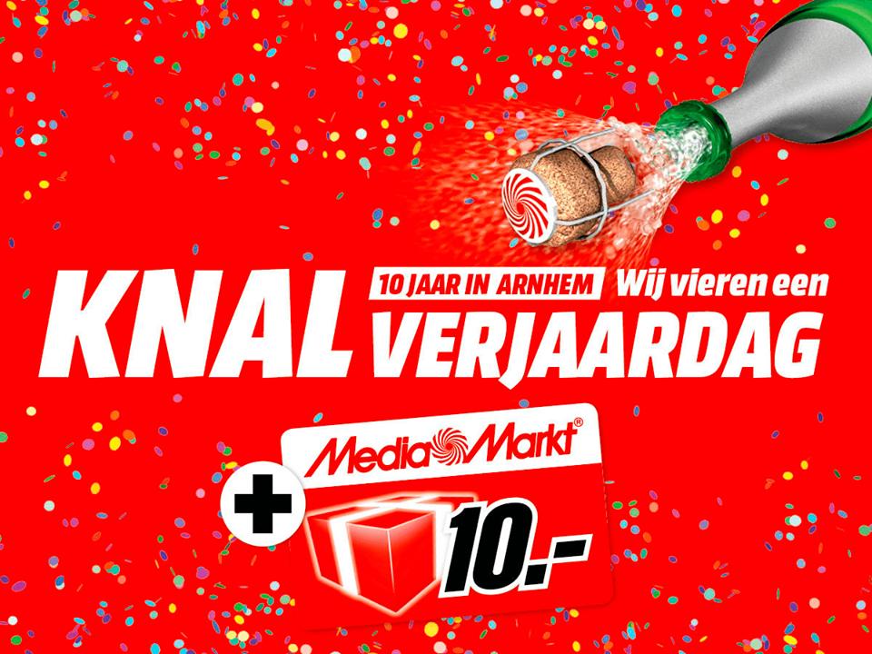 Cadeaukaart van € 10,- bij elke € 100,- Media Markt Arnhem