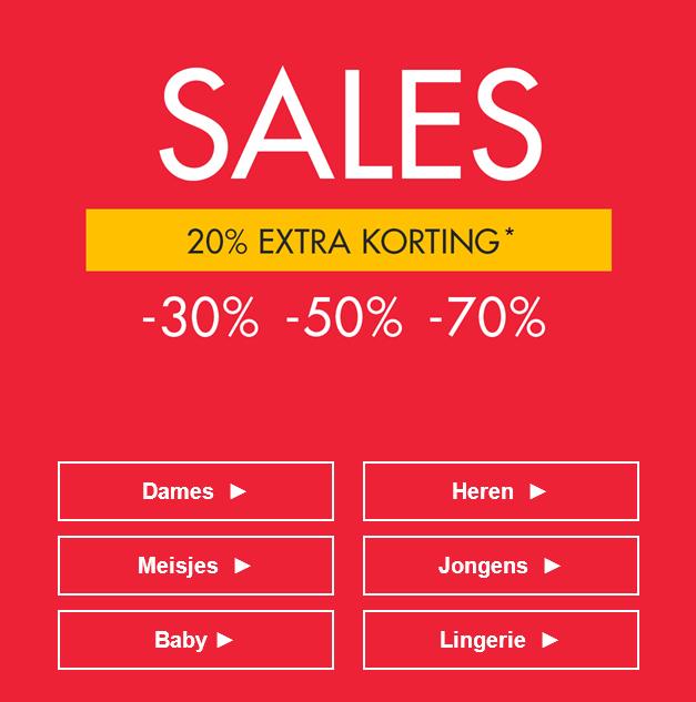 Nu 20% EXTRA korting op de sale met 30-50-70% korting @ Kiabi