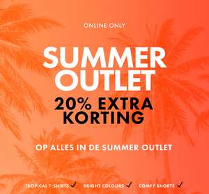 Op alle Summer Outlet 20% extra korting @ We Fashion