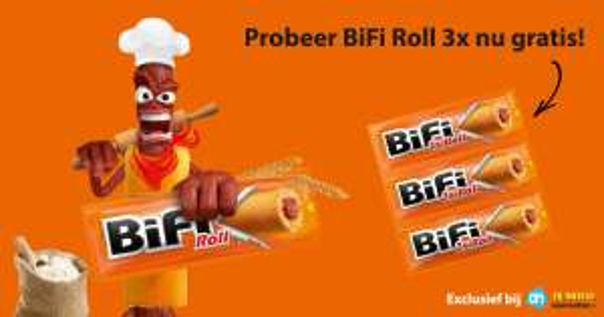Gratis Bifi roll 3x (geld terug)