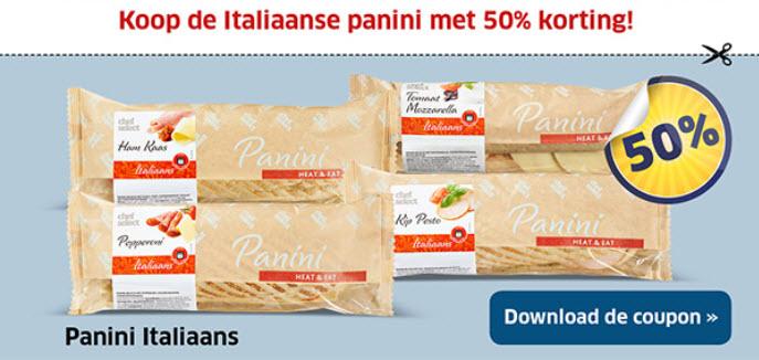 50% korting Italiaanse panini @ Lidl