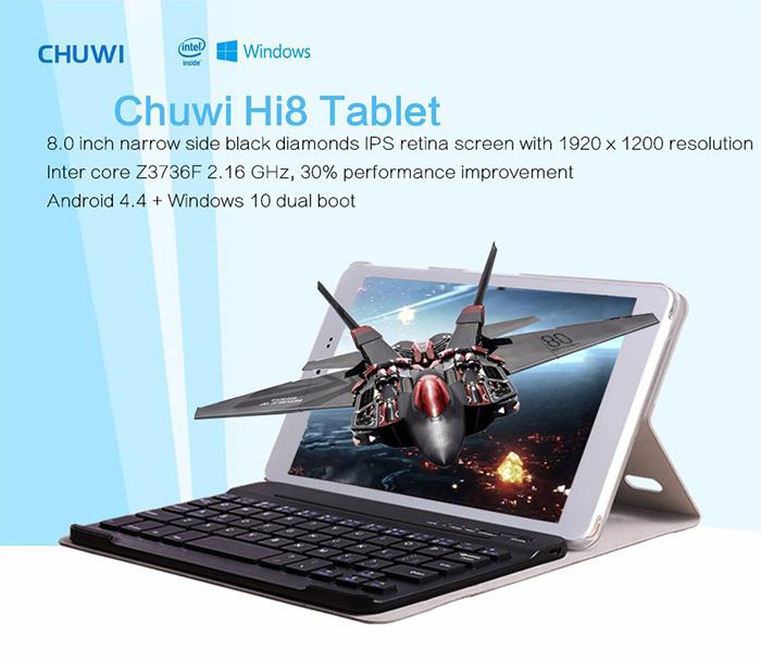 Chuwi Hi8 Dual boot Tablet voor €54,51 @ Gearbest