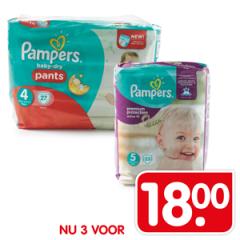 Pampers 3 voor € 18,- (0,22 p/stk) @ Emté supermarkten