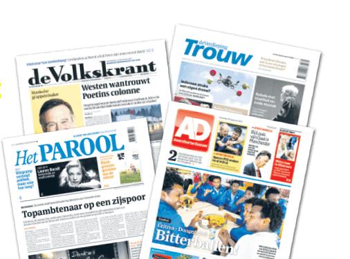 4 weken gratis digitaal de Volkskrant, AD, Trouw of Het Parool @ Krantcadeaukaart