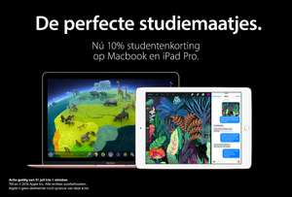 Back To School: 10% korting op iPad en Mac @ iCentre